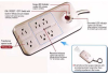6 Outlet Energy Controlled Surge Protector w/ Remote -- 215039