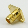 SMA Female Connector None Terminal Solder Attachment 4 Hole Flange Dummy Panel Mount -- SC7615 -- View Larger Image