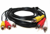 10ft 3 RCA Male to 3 RCA Female Audio Video Extension Cable -- RA13-10 - Image