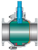 High-temperature Metal-seated Ball Valves -- Type L -- View Larger Image