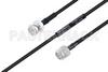 MIL-DTL-17 BNC Male to TNC Male Cable 200 cm Length Using M17/28-RG58 Coax -- PE3M0118-200CM -Image