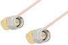SMA Male Right Angle to SMA Male Right Angle Cable 24 Inch Length Using PE-047SR Coax -- PE3147-24 -Image