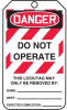 Danger Do Not Operate Lockout Tags - Small Print -- LCK291 -Image