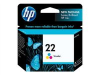 HP 22 Tri-Color Inkjet Printer Cartridge YLD 140 -- C9352AN