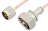 N Male to 7/16 DIN Male Cable 12 Inch Length Using RG402 Coax -- PE35963LF-12 -Image