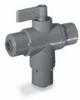 Ball valve, 3-way, 3/8