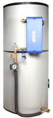 Compact, pre-assembled indirect tap water system for district or local heating applications. Nominal capacities up to 230 kW.Tank volumes: 300 - 1500L