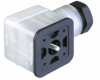GDMF Flat Line DIN Standard Field Attachable Connector: Form A, 3-pin (2+1PE; PE across cable outlet), transparent housing, screw type, M16; with recovery diode and yellow LED, 24 V DC, 10 A -- GDMF 2016 DGAA - Image