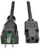 Hospital-Grade Computer Power Cord, 10A, 18 AWG (NEMA 5-15P to IEC-320-C13), 15 ft. -- P006-015-HG10
