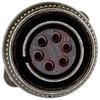 connector,metal circular,str plug w/strain relief,size 14s,6#16 solder socket -- 70143549