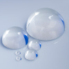 Solid Round Clear Acrylic Cabachone Half-Balls -- 91571 - Image