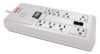 APC Power-Saving Home/Office SurgeArrest, 8 Outlets with Phone Protection, 120V -- P8GT