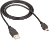 USB 2.0 Cable Type A Male to Type Mini-B Male Black 3-ft. -- USB06-0003 -- View Larger Image