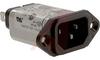 Filter, RFI, Power Line, Compact w/IEC socket, 120/250 Volt, 50-60Hz, 10 Amp -- 70185584
