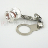BNC Male Open Circuit Connector Cap with 2.7 Inch Chain -- M39012/25-0007 -- View Larger Image