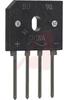 Bridge Rectifier, Single-Phase; 10A, 600V, BU 4-Pin Inline Pkg., RoHS -- 70217414