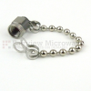 SMA Male Open Circuit Connector Cap with 2.76 Inch Chain -- SC2031 -Image