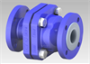 PFA Lined Ball Check Valve -- 100 NB 4