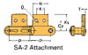 Double Pitch Conveyor Lambda Chain Attachment -- C2040-LAMBDA-SA-2 - Image