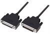 LSZH D-Sub Cable, DB25 Male / DB25 Female, 2.5 ft -- DSA00007-205F - Image