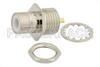 75 Ohm SMB Jack Bulkhead Connector Solder Attachment Solder Cup Terminal, .295 inch D Hole -- PE4172 -Image