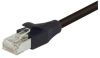 Double Shielded 26 AWG Stranded Cat 5E RJ45/RJ45 Patch Cord, Black 2.0 Ft -- T5A00006-2F -Image