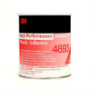 3M 4693 High Performance Industrial Plastic Adhesive Light Amber 1 gal Pail -- 4693 1 GALLON CONTAINER -Image