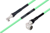 Temperature Conditioned SMA Male Right Angle to N Male Right Angle Low Loss Cable 72 Inch Length Using PE-P300LL Coax -- PE3M0237-72 -Image