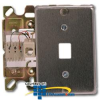 Suttle Stainless Steel 6-Conductor Wallplate with Quick-.. -- 630A6