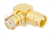 SMP Female Right Angle Connector Solder Attachment for RG405, PE-SR405FL, PE-SR405FLJ Mitered Body -- PE44913 -Image
