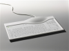 Keywi MediBoard Medical Keyboard with Touchpad- White -- 678-021-04