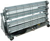 Explosion Proof Fluorescent Lights - 4 foot - 4 Lamp - for Paint Booths on Cart with Wheels -- EPLC-48-4L