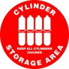 Floor Sign,17In,Cylinder Storage Area -- 8GKE4
