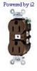 Duplex, Standard Brown 15A 125V AC 2P -- 78358590000-1 - Image