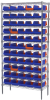 Akro-Mils 2000 lb Adjustable Blue Chrome Steel Open Adjustable Fixed Shelving System - 60 Bins - 2000 lb Total Capacity - AWS143636462B -- AWS143636462B - Image