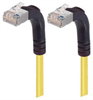 Category 5E Shielded Right Angle Patch Cable, Right Angle Up/Right Angle Up, Yellow 7.0 ft -- TRD815SRA5Y-7 -- View Larger Image
