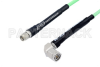 SMA Male to TNC Male Right Angle Low Loss Cable 200 cm Length Using PE-P142LL Coax, RoHS -- PE3C0780-200CM -Image