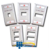 Siemon Single Gang Stainless Steel Faceplate for MAX.. -- MX-FP-S-01-SS-L