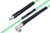 Temperature Conditioned SMA Female to SMA Male Right Angle Low Loss Cable 100 cm Length Using PE-P142LL Coax -- PE3M0137-100CM -Image