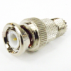 Mini UHF Female (Jack) to BNC Male (Plug) Adapter, Nickel Plated Brass Body -- SM2233 - Image