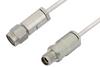 3.5mm Male to 3.5mm Female Cable 12 Inch Length Using PE-SR405AL Coax -- PE34584-12 -Image