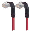 Category 5E Shielded LSZH Right Angle Patch Cable, Right Angle Up/Right Angle Up, Red, 5.0 ft -- TRD815SZRA5RD-5 -Image