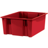 """20 7/8"""" x 18 1/4"""" x 9 7/8"""" Red - Stack & Nest Containers -- BINS120 -- View Larger Image"""