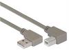 Right Angle USB Cable, Right Angle A Male/Left Angle B Male, 1.0m -- CA90RA-LB-1M -Image