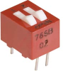 Switch, DIP; 0.280 in. L x 0.380 in. W;2; SPST; Thru-Hole; 0.1 in.; 0.02 in. -- 70216655 - Image