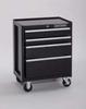 Rolling Cabinet,26-1/2 x18 x33-13/16,Blk -- 16W855