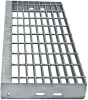 Grating Stair Treads -- Galvanized
