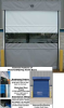 MOTORIZED VINYL ROLL-UP DOORS -- HRUMT12X10