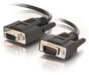 10ft DB9 M/F Extension Cable - Black -- 2302-52031-010 - Image