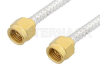 2.92mm Male to 2.92mm Male Cable 24 Inch Length Using PE-SR402FL Coax, RoHS -- PE34733LF-24 -Image